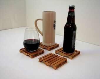 Pallet Coasters - Cherry Wood