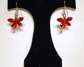 Earrings Red Dragonfly ER15