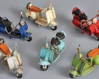 VESPA vintage motorcycle scooter tin toy miniature for boys and girls