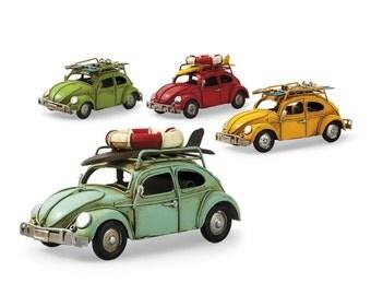VW Volkswagen Beetle / Bug Vintage Tin Toy Boys Girls Miniature Car Free Shipping