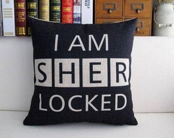 Sherlock Linen Pillow Cover (Sherlocked)
