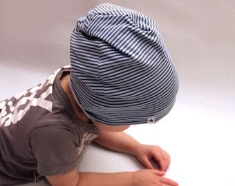 Toddler gift, boys, Beanie, Children clothes, stripes,Jersey, Baby pilot hat, hat, toddler hat,boy, comfy hat, toddler,beanie,gift
