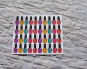 40 Nail Polish Bottles Stickers for Your Planner - MTD0037