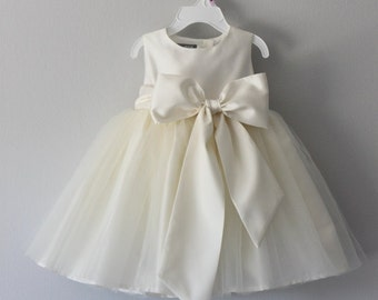 The Nancy Dress: Handmade flower girl dress, tulle dress, wedding dress, communion dress, bridesmaid dress, tutu dress