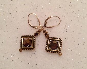 Unique gold earrings.