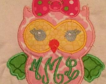 Owl Tshirt or Baby Onesie