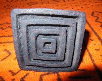 African Carved Wood Stamps For Fabric, Paper, Clay, Ghana *6