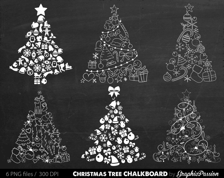 christmas tree digital clipart xmas tree clip art merry