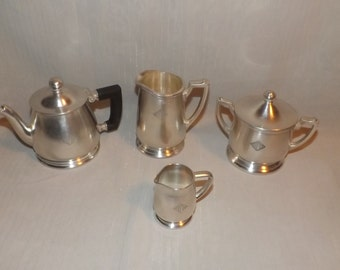 Lot Of Four Silver Soldered Pieces Wallace & Int'l Silver Co
