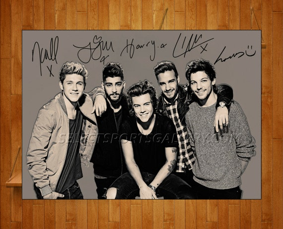 One Direction Signed Poster
