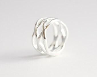 Silvretta Ring | Solid Sterling Silver, Swirl, Modern, Statement
