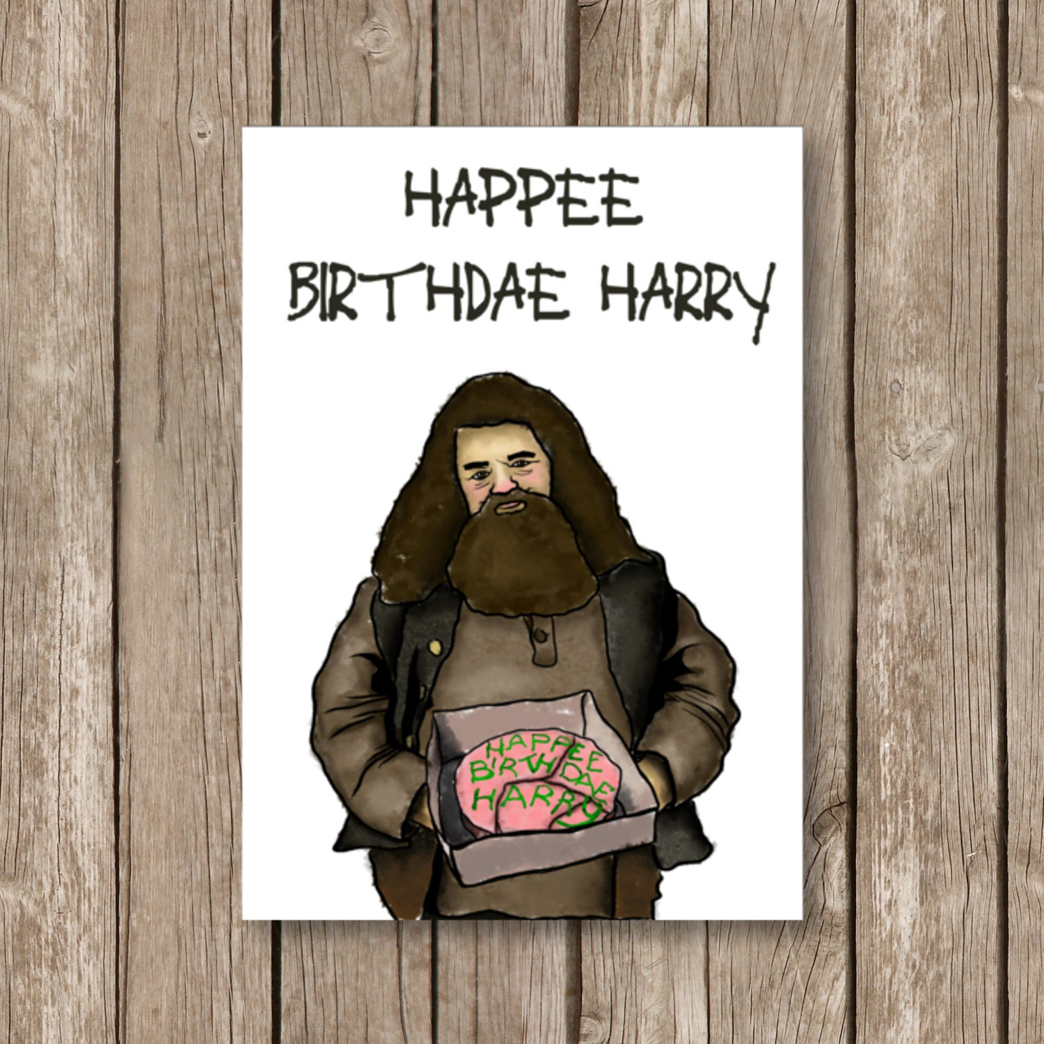 Printable Birthday Card Harry Potter Happee Birthdae