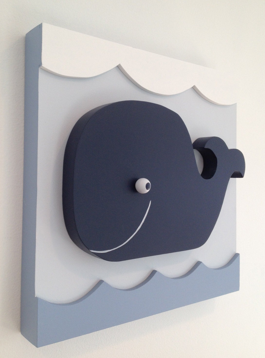 Baby Whale Nautical Kids Room Decor Whale Nursery Decor Wall