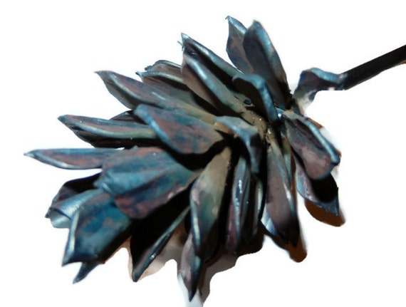 hand forged metal pine cone home decor