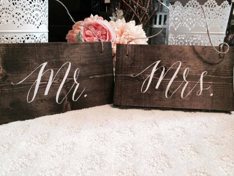 Custom Wedding Accessories Rustic Wedding Mr Amp Mrs Signs