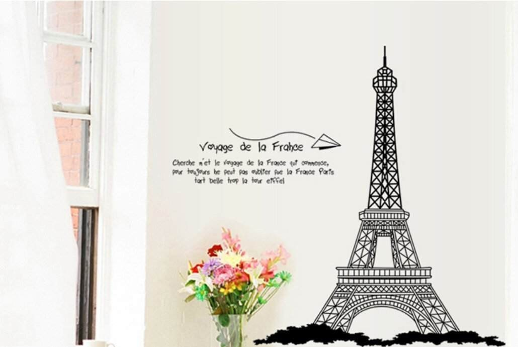 Wall Decal Large Paris Eiffel Tower Wall Decor