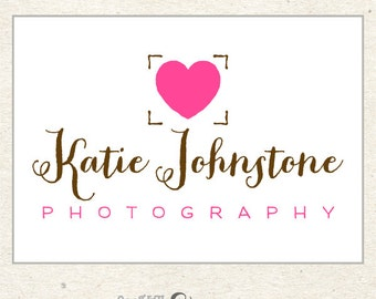 Heart Logo, Premade Logo Design, Custom Logo Design for Photographers and Boutiques