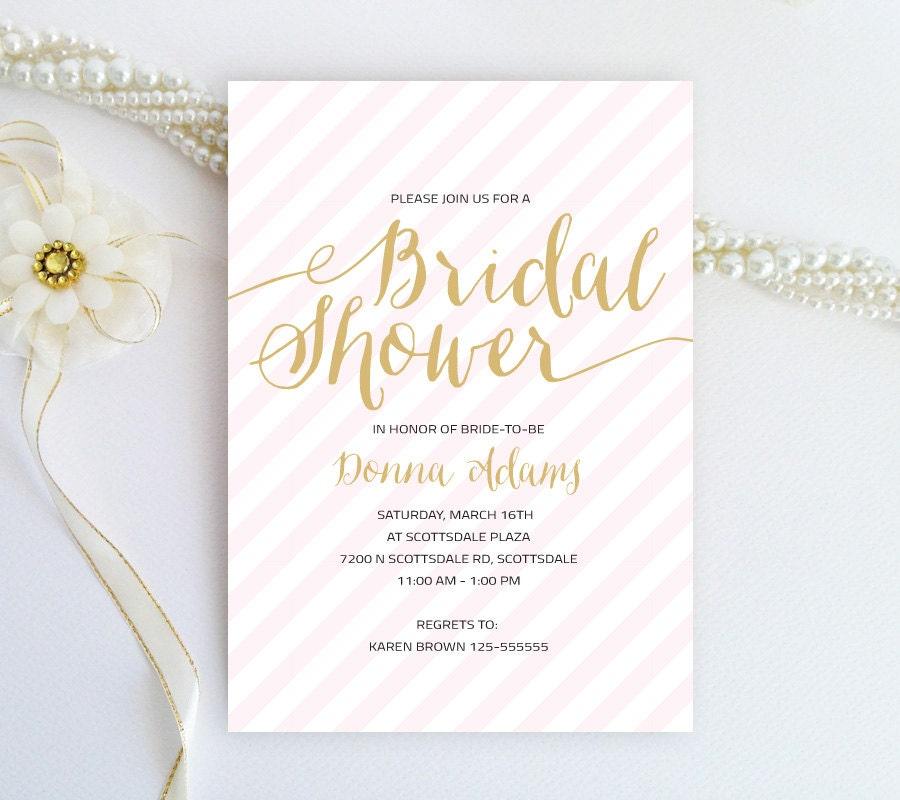 Wedding Shower Invitations Cheap Blush Pink And Gold Bridal