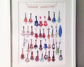 Ukulele Convention A3 print