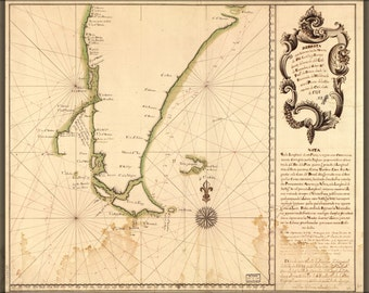 24x36 Poster; Map Of Cape Horn In 1748