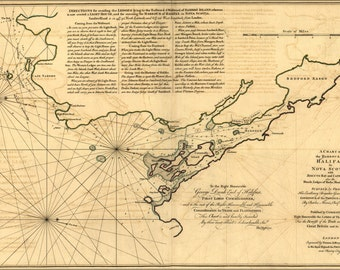 24x36 Poster; Map Of Halifax Harbor Nova Scotia Canada 1768