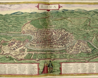 24x36 Poster; Map Of Rome 1612