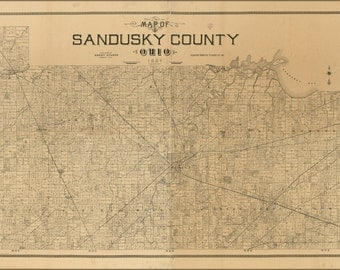 24x36 Poster; Map Of Sandusky County, Ohio 1891