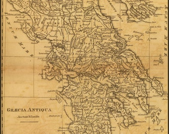 24x36 Poster; Map Of Ancient Greece C1814 By M'Dermut