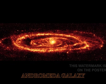 24x36 Poster; Andromeda Galaxy Taken By Spitzer P3