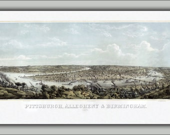 24x36 Poster; Pittsburgh, Pennsylvania 1871