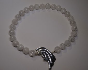 Necklace of rock crystal and silver Temporarily 20% discount!