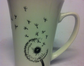 Make a wish. Romantic Dandelion. Personalised mug