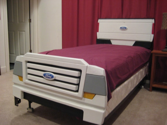 items similar to pick up truck bed frame plans with headboard and footboard for twin bed on etsy - Truck Bed Frame