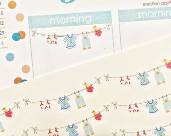 28 Laundry Day Stickers! Perfect for your Erin Condren Life Planner, Filofax, Plum Paper & other planner or scrapbooking!