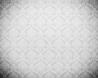 GREY DAMASK vinyl Photography Backdrop