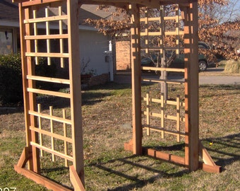 Brand New Large Deluxe Cedar Garden Arbor - Over 7 Feet Wide - Free Shipping
