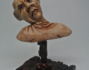 OOAK Sculpted Zombie Pop Bust