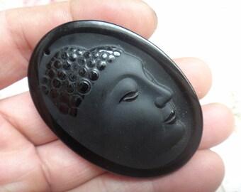Free shipping natural obsidian pendant Buddha pendant