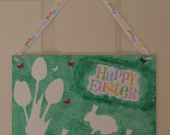 Easter Canvas Panel decor.