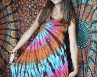 Tie Dye Tank Dress with Pockets