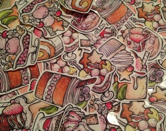 Desserts sticker set of 9