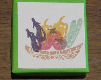 Vegetables Rubber Stamp Set