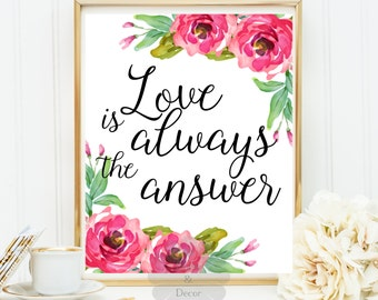 Love Is The Answer Etsy