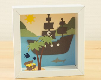 Table cut paper, theme Pirate