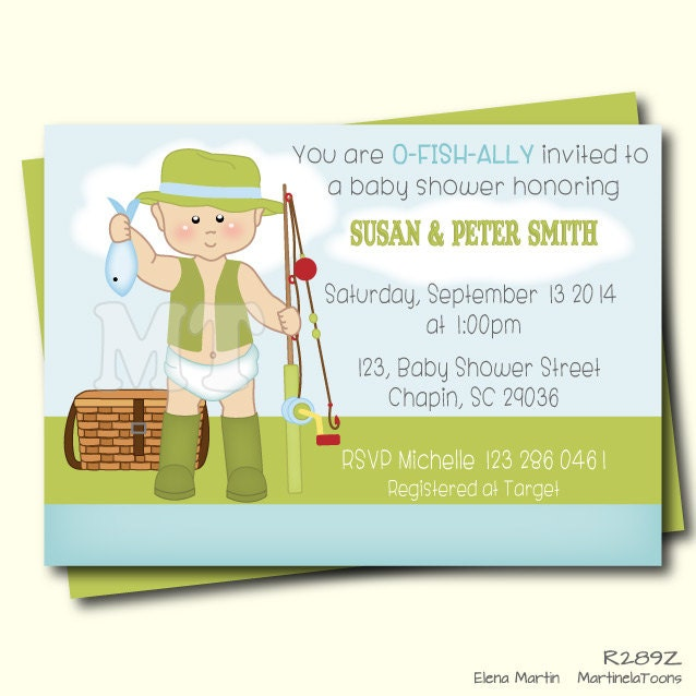 gone fishing baby shower invitation fishing baby boy shower