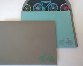 Bicycle Stationery// Bikes// Summer Stationery// Vintage Bikes// Set of 8