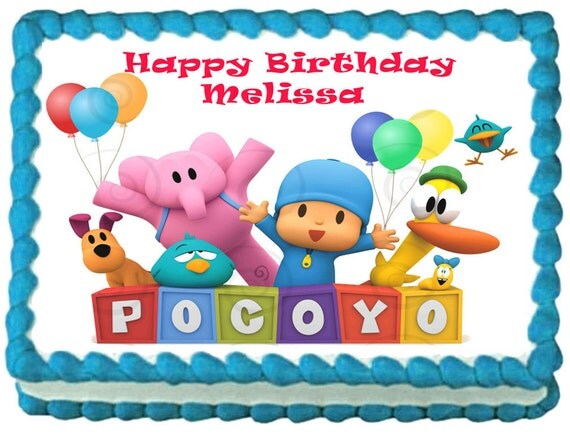 Pocoyo Edible Image Cake Topper Frosting By