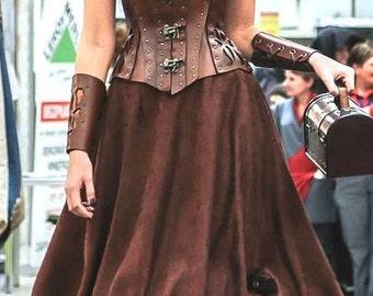 Steampunk long skirt custom made