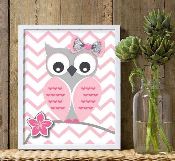 Owl Nursery Decor Owl Theme Bedroom Pink And Gray Owl Owl