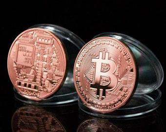 3pcs  Physical Bitcoins Copper 1oz Bitcoin BTC Coin not Casascius